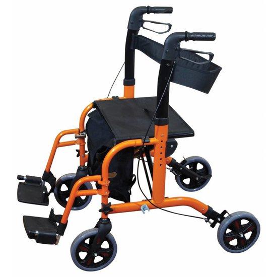 Aidapt Aidapt VP184 2 in 1 rollator rolstoel oranje