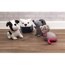 St Helens deurstoppers 4 stuks Hond, Uil, Poes en Egel
