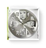 Nedis Nedis ronde wandklok met fotolijst 40 cm zilver