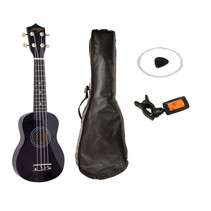 Johnny Brook JB310A Soprano Ukulele set - zwart