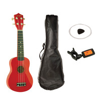 Johnny Brook JB310B Soprano Ukulele set - rood