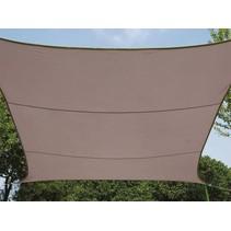 Perel rechthoekig zonnezeil 4 x 3 meter - taupe