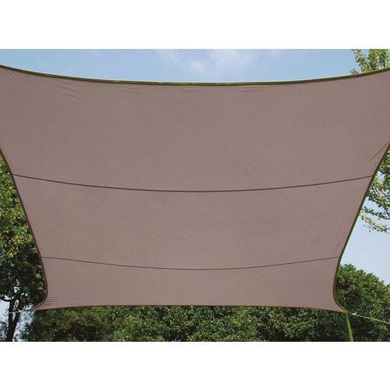 Perel Perel rechthoekig zonnezeil 4 x 3 meter - taupe