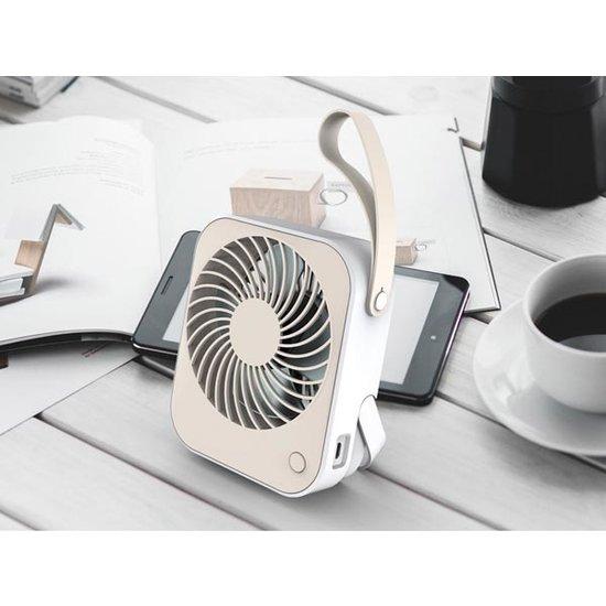 Perel Perel CFANUSBD3 design ventilator met USB aansluiting en ingebouwde accu