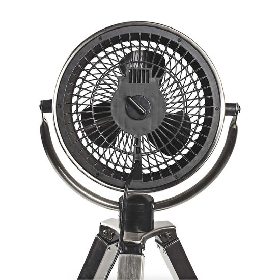 Nedis B.V. Nedis design ventilator op driepoot met geborsteld metaal