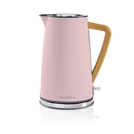Nedis Nedis elektrische waterkoker soft-touch roze - 1,7 liter