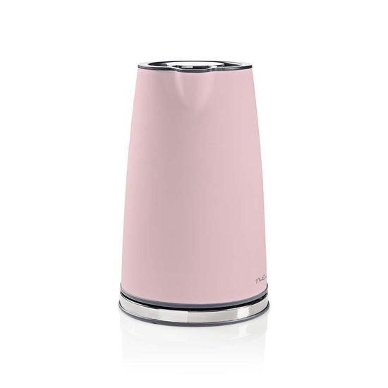 Nedis B.V. Nedis elektrische waterkoker soft-touch roze - 1,7 liter