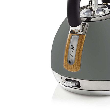Nedis Nedis elektrische waterkoker 1,8 liter soft-touch grijs