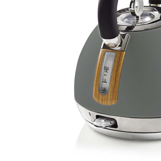 Nedis B.V. Nedis elektrische waterkoker 1,8 liter soft-touch grijs