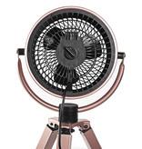 Nedis B.V. Nedis design ventilator op driepoot roze drie snelheden