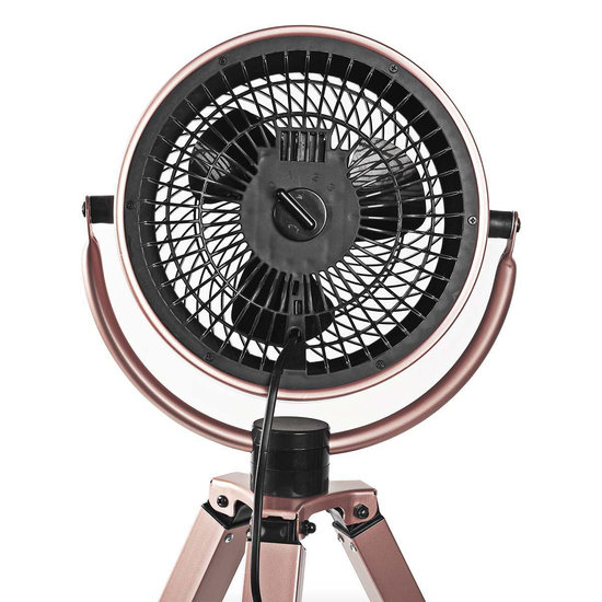 Nedis Nedis design ventilator op driepoot roze drie snelheden