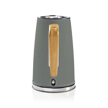 Nedis Nedis elektrische waterkoker soft-touch grijs - 1,7 liter