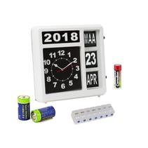 Shall DM106 analoge klok dementieklok met batterijen - Gratis pillendoos