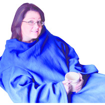 Aidapt VM936EA fleece deken met mouwen - blauw