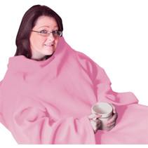 Aidapt VM936EB fleece deken met mouwen - roze