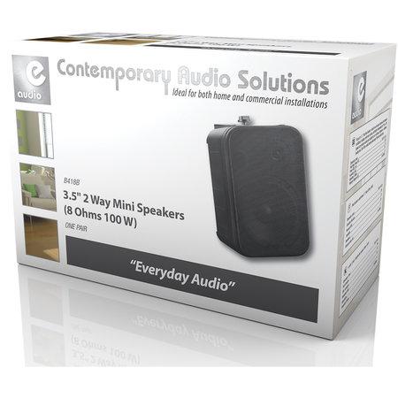 E-audio E-Audio achtergrond luidsprekers 3.5 inch 8 Ohm 100 Watt Zwart