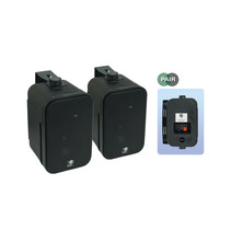 E-Audio achtergrond luidsprekers 3.5 inch 8 Ohm 100 Watt Zwart