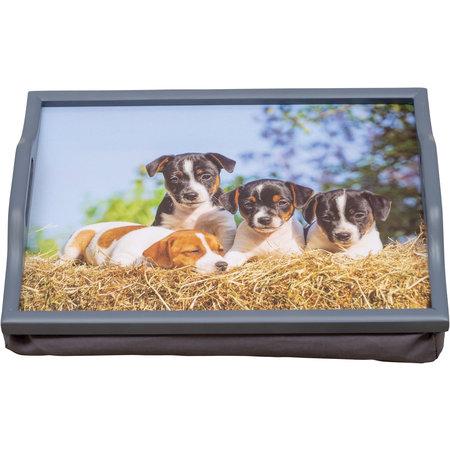 St Helens St Helens GH103 dienblad met kussen schoottafel - hond