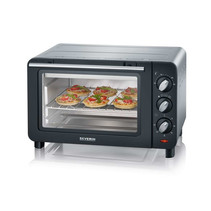 Severin TO2064 Mini Oven 1200 Watt zwart/zilver