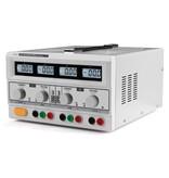 Velleman Dubbele Dc-labvoeding - 2 X 0-30 Vdc / 0-3 A + 5 Vdc Vast / 3 A Max Met 4 Lcd-schermen