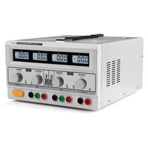 Dubbele Dc-labvoeding - 2 X 0-30 Vdc / 0-3 A + 5 Vdc Vast / 3 A Max Met 4 Lcd-schermen