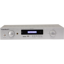 Madison MAD1400BT-WH is een HiFi stereo versterker met bluetooth - wit
