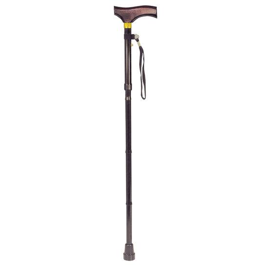 Aidapt Aidapt VP155F wandelstok met houten handgreep - opvouwbaar