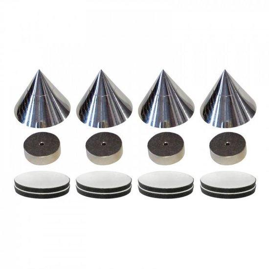 SHALL Shall SP4C spikes set van 4 stuks - chroom