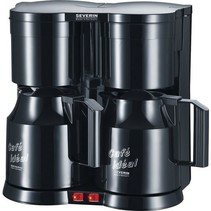 Severin KA 5828 duo koffiezetapparaat met thermoskannen - zwart