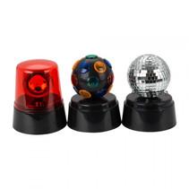 Discolampen set met mini discolampen voor kinderen