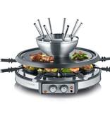 Severin Severin RG 2348 Gourmetstel met 8 fonduevorkjes en 8 pannen RVS