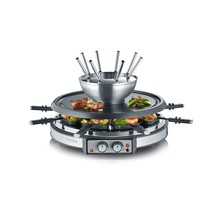 Severin RG 2348 Gourmetstel met 8 fonduevorkjes en 8 pannen RVS