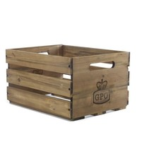 GPO CASSA houten krat voor het opbergen van LP's