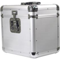 Soundlab G073GA platenkoffer zilver voor 70 platen
