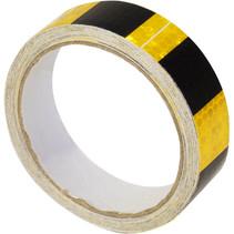 Eagle zelf klevende reflectie tape zwart geel - 5 meter