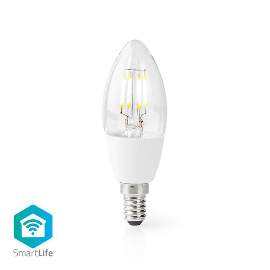 Nedis Nedis Wi-Fi Smart LED-Lamp | E14 | C37 | 5 W | 400 lm | Wit