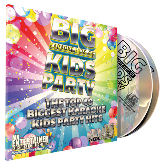 MR Entertainer Mr entertainer karaoke CDG met Kids party hits - 2 cd's