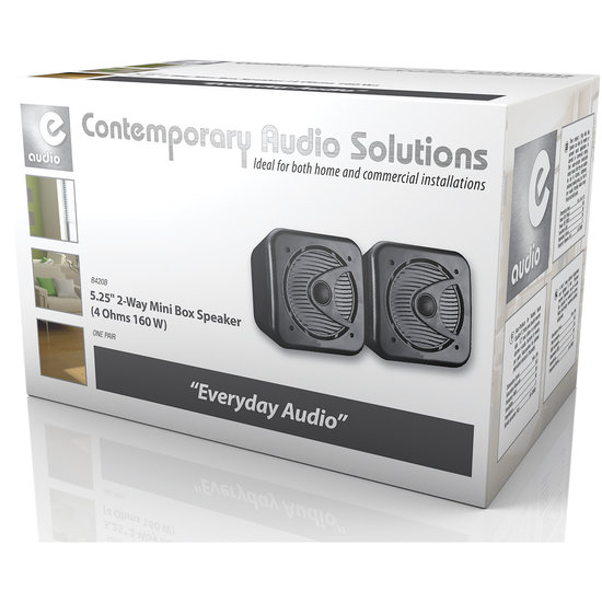 E-audio E-Audio B420B kleine vochtbestendige luidspreker set 80 watt zwart