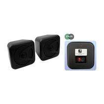 E-Audio B420B kleine vochtbestendige luidspreker set 80 watt zwart