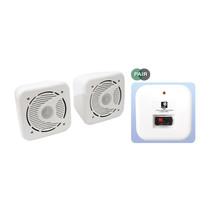 E-Audio B420 kleine vochtbestendige luidspreker set 80 watt wit