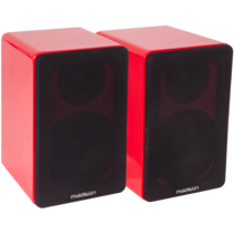 Madison MAD-BS4RE Hi-Fi boekenplak luidspreker set - rood