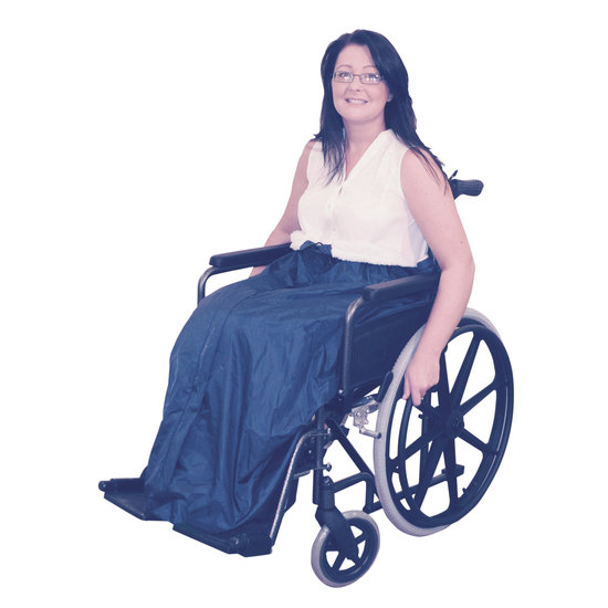 Aidapt Waterdichte rolstoel voetenzak met fleece 100% wind & waterdicht