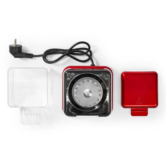 Nedis Nedis Popcornmachine rood met wit retro model