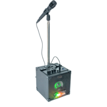 Party light karaoke set met LED lichteffect USB/SD & Bluetooth