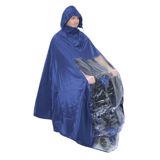 Aidapt Aidapt Scootmobiel Regen Poncho blauw