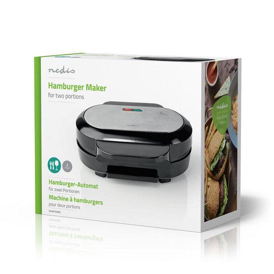 Nedis Nedis hamburger maker 1000 Watt met Anti-aanbaklaag