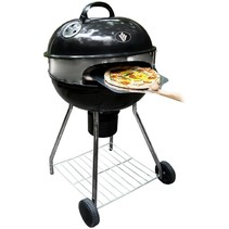 Barbecue met pizza ring en deksel