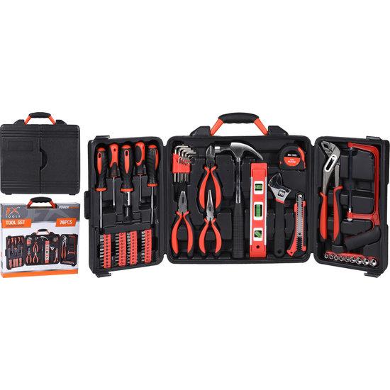 Blanko FX Tools gereedschapskoffer 76 delig met gereedschap