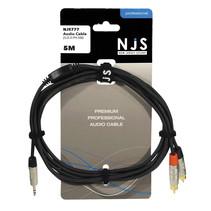 NJS 3,5 mm Stereo Audio Kabel naar 2 x Tulp (RCA) Kabel ( 5 Meter)
