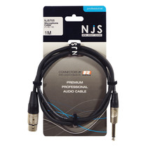 NJS XLR female naar 6,35 mm Mono Jack kabel (1 Meter)